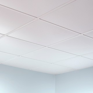 Fasade Rib Matte White 2-foot Square Lay-in Ceiling Tile