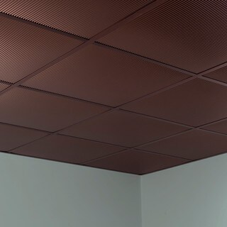 Fasade Rib Oil Rubbed Bronze 2-foot Square Lay-in Ceiling Tile