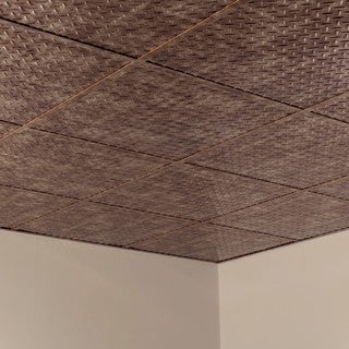 Shop Fasade Diamond Plate Revealed Edge Bermuda Bronze 2