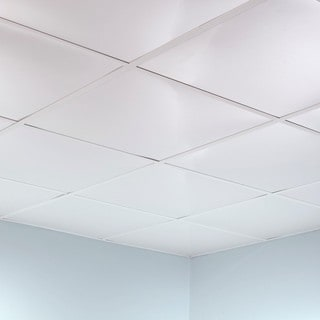 Fasade Flat Gloss White 2-foot Square Lay-in Ceiling Tile