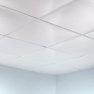 Fasade Flat Matte White 2-foot Square Lay-in Ceiling Tile