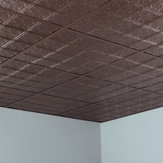 Fasade Traditional Style #10 Argent Bronze 2-foot Square Lay-in Ceiling Tile