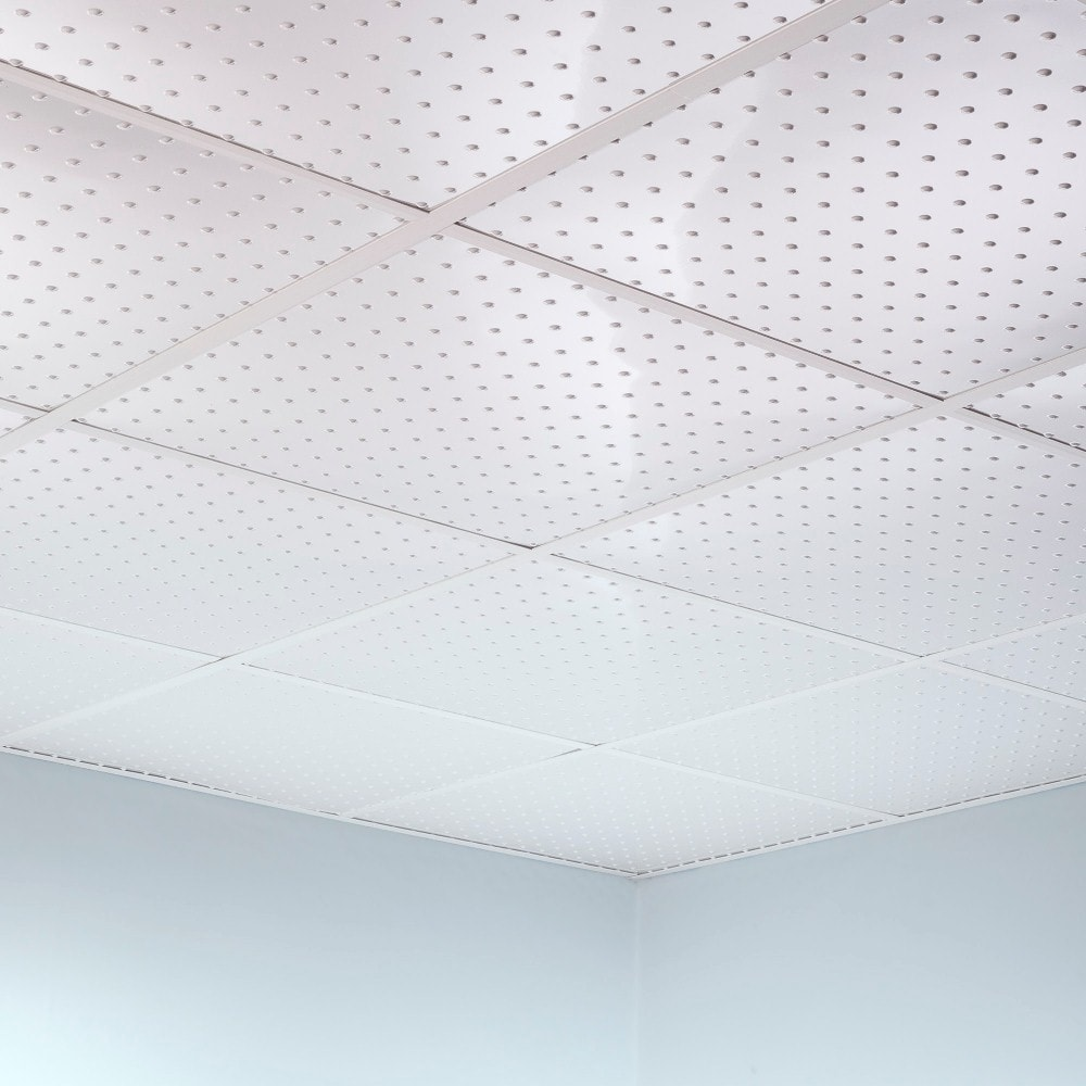 Fasade Minidome Matte White 2-foot Square Lay-in Ceiling Tile (Assembled - Sample)