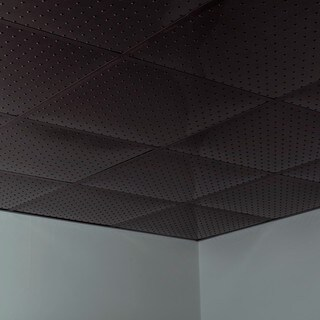 Fasade Minidome Smoked Pewter 2-foot Square Lay-in Ceiling Tile