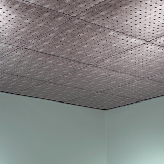Fasade Minidome Crosshatch Silver 2-foot Square Lay-in Ceiling Tile (2 options available)
