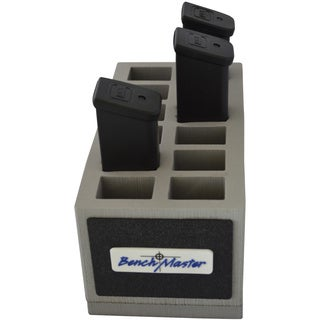 Benchmaster Weapon Rack Twelve (12) Unit Double (2) Stack .45 Pistol Magazine Rack
