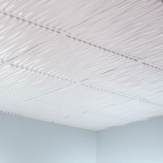 Fasade Dunes Gloss White 2-foot Square Lay-in Ceiling Tile