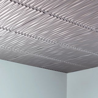 Fasade Dunes Argent Silver 2-foot Square Lay-in Ceiling Tile