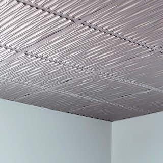 fasade dunes argent silver 2foot square layin ceiling tile