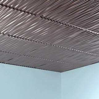 Fasade Dunes Brushed Nickel 2-foot Square Lay-in Ceiling Tile