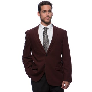 Caravelli Men's 'Superior 150's' Burgundy Wool Feel Jacket