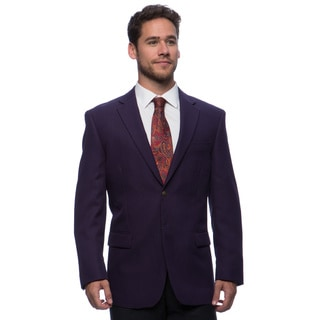 Bolzano Men's Eggplant 2-button Jacket