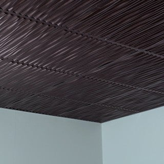 Fasade Dunes Smoked Pewter 2-foot Square Lay-in Ceiling Tile