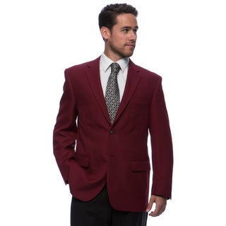 Bolzano Men's Big and Tall Burgundy 2-button Jacket (More options available)