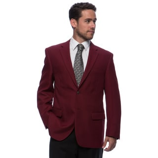 Bolzano Men's Big and Tall Burgundy 2-button Jacket