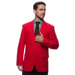 Bolzano Men's Big and Tall Red 2-button Jacket (Option: 60r)