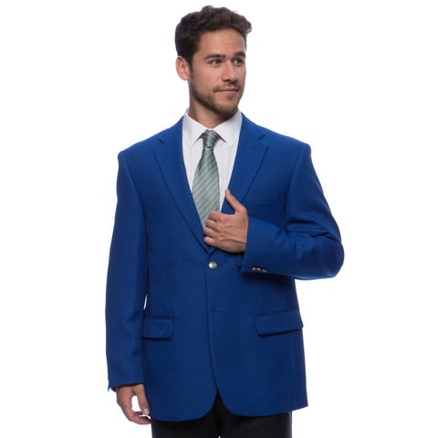 Bolzano Men's Big and Tall Blue 2-button Jacket