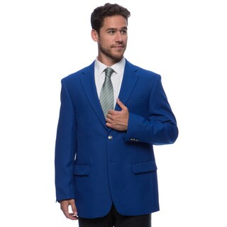 Bolzano Men's Big and Tall Blue 2-button Jacket (Option: Blue)