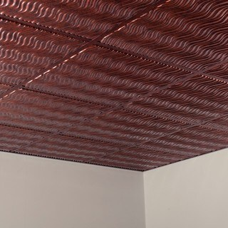 Fasade Current Moonstone Copper 2-foot Square Lay-in Ceiling Tile