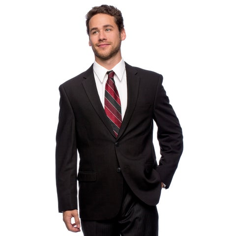 Caravelli Men's 'Superior 150's' Big and Tall Black Wool Feel Jacket