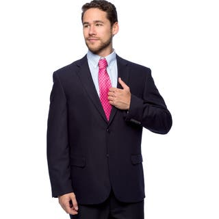 Caravelli Men's 'Superior 150's' Big and Tall Navy Wool Feel Jacket|https://ak1.ostkcdn.com/images/products/10517164/P17601277.jpg?impolicy=medium