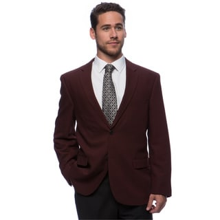 Caravelli Men's 'Superior 150's' Big and Tall Burgundy Wool Feel Jacket
