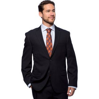 Bolzano Men'sw Big and Tall Navy 2-button Suit