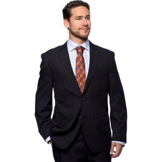 Bolzano Men's Big and Tall Navy 2-button Suit