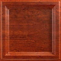 Fasade Classic Coffer Walnut 2-foot Square Lay-in Ceiling Tile