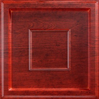 Fasade Inset Coffer Cherry 2-foot Square Lay-in Ceiling Tile
