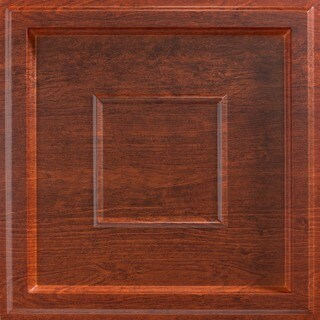 Fasade Inset Coffer Walnut 2-foot Square Lay-in Ceiling Tile