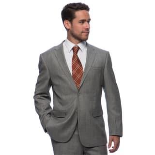 Prontomoda Europa Men's Grey Sharkskin Wool Suit https://ak1.ostkcdn.com/images/products/10517200/P17601289.jpg?impolicy=medium