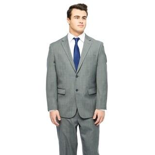 Prontomoda Europa Men's Mid. Grey Sharkskin Wool Suit