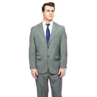 Prontomoda Europa Men's Mid. Grey Sharkskin Wool Suit https://ak1.ostkcdn.com/images/products/10517201/P17601290.jpg?impolicy=medium