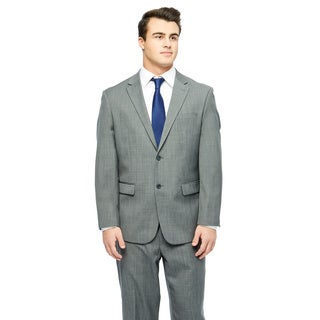 Prontomoda Europa Men's Mid. Grey Sharkskin Wool Suit