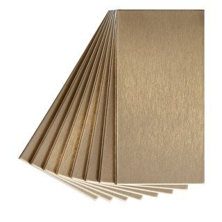 Aspect 3x6-inch Brushed Champagne Long Grain Metal Tile (8-pack)