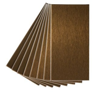 Aspect 3x6-inch Brushed Bronze Long Grain Metal Tile (8-pack)