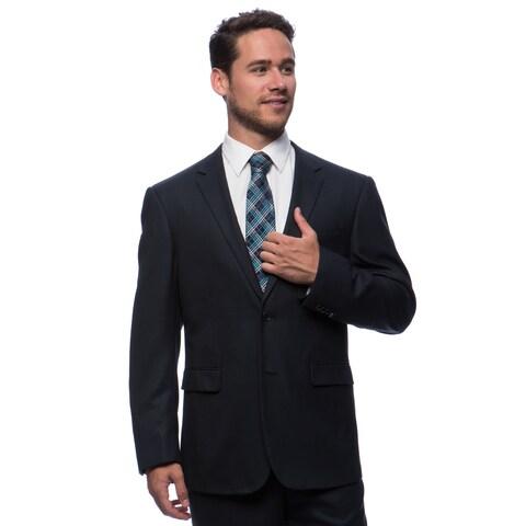Prontomoda Europa Men's Navy Birdeye Wool Suit
