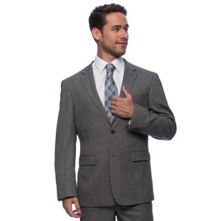 Prontomoda Europa Men's Grey Birdeye Wool Suit