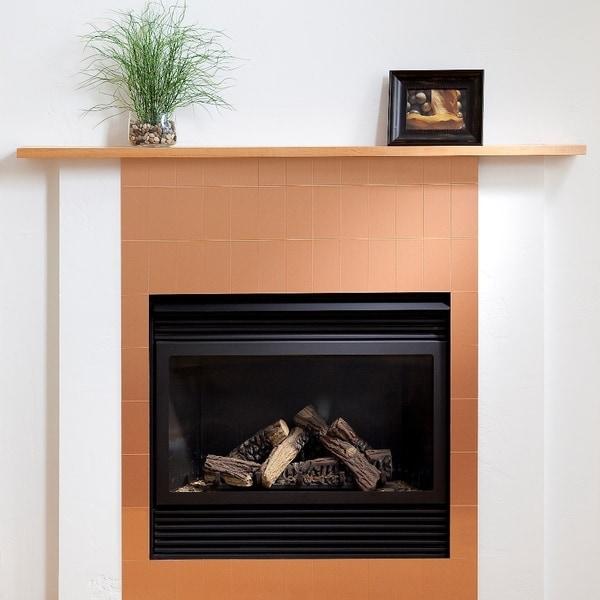 Shop Aspect 3x6 Inch Brushed Copper Long Grain Metal Tile