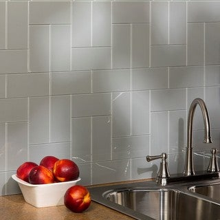 Aspect 3x6-inch Steel Decorative Wall Tile (8-pack)