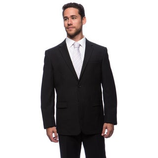 Prontomoda Europa Men's Charcoal Stripe Wool Suit