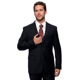 Caravelli Men's Slim Fit 'Superior' 150-inch Navy Wool Feel Vested Suit