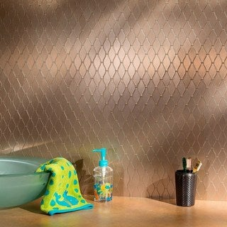 Aspect 6x4-inch Wavelength Champagne Matted Metal Tile (6-pack)