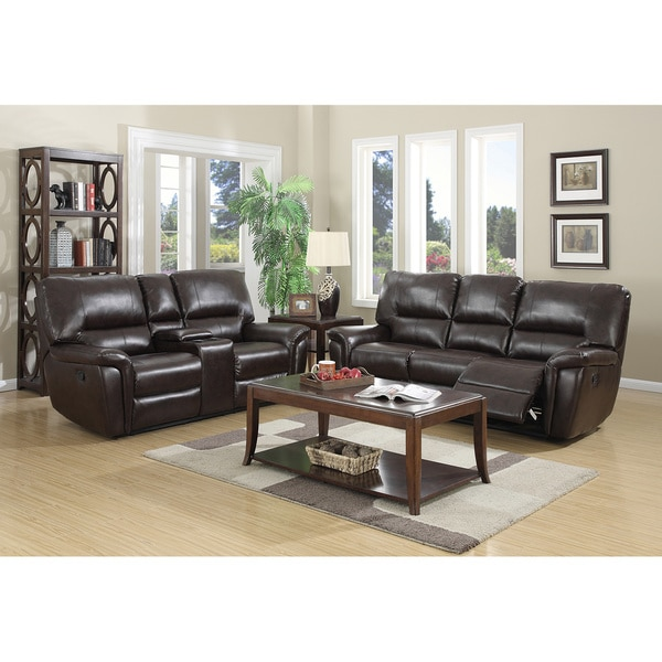 Air O Sofa: Shop Providence Leather Air Sofa And Loveseat Recliner Set