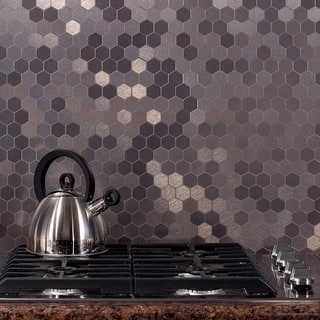 Metal Tile Find Great Home Improvement Deals Shopping At Overstockcom - 4x4 stainless steel tiles