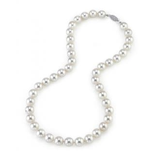 Radiance Pearl 14k Gold AAA Quality White Akoya Pearl Necklace (9-9.5mm)|https://ak1.ostkcdn.com/images/products/10517283/P17601411.jpg?impolicy=medium