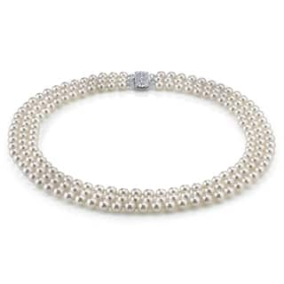 Radiance Pearl 14k Gold AAA Quality White Freshwater Pearl Triple Strand Necklace (7-8mm)|https://ak1.ostkcdn.com/images/products/10517325/P17601435.jpg?impolicy=medium