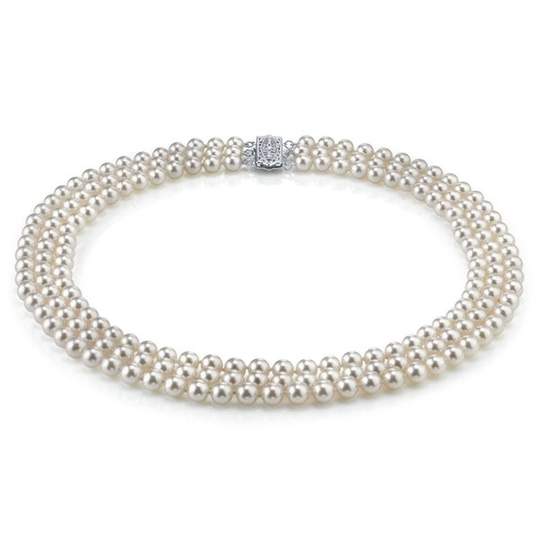 Shop Radiance Pearl 14k Gold AAA Quality White Freshwater
