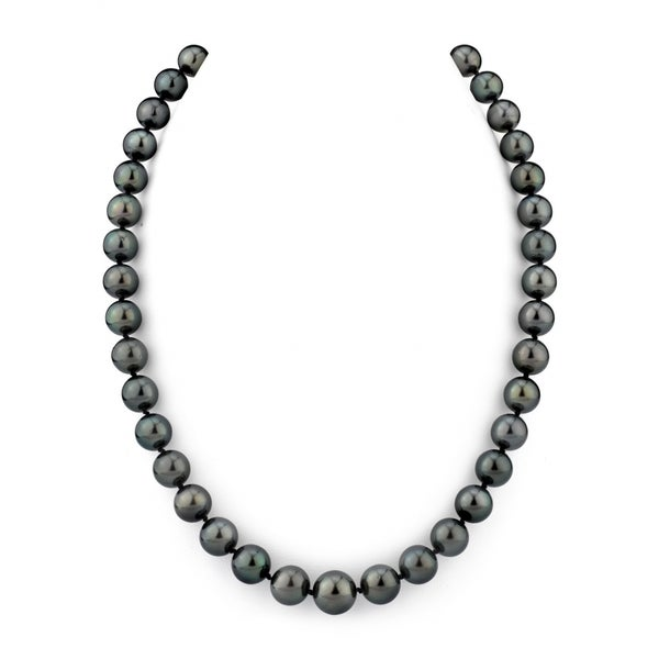 e59c5a040 Radiance Pearl 14k Gold AAA Quality Black Tahitian South Sea Pearl Necklace  (8-10mm